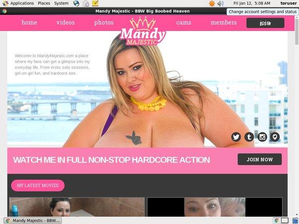 Mandy Majestic Betalen