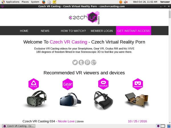 Sign Up For Czechvrcasting